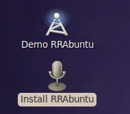 RRAbuntu Desktop icons
