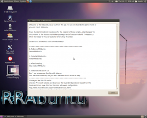 RRAbuntu Welcome Readme - Screenshot
